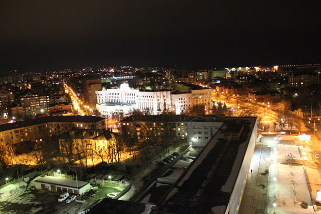 Uljanowsk - Blick aus dem Hotel